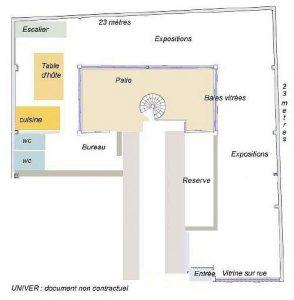 Plan de la galerie