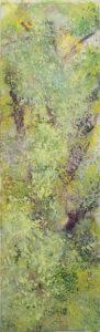 Eclosion 7, 2018. Acrylique sur toile, 116 x 37 cm.