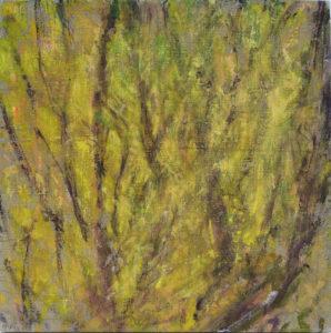 Préfeuillaison 6, acrylique sur toile, 40 x 40 cm