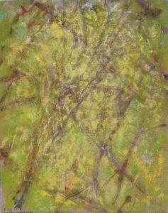 Préfeuillaison 1, 2009. Acrylique sur toile, 40 x 40 cm.