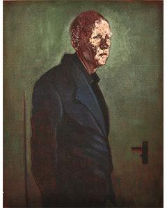 Door Handle, 2011. Huile sur toile, 117 cm x 91 cm.