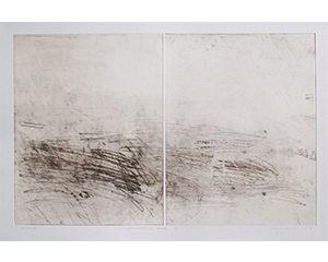 Improvisation et trace n°XII, 2014. Monotype, 82 x 108 cm.