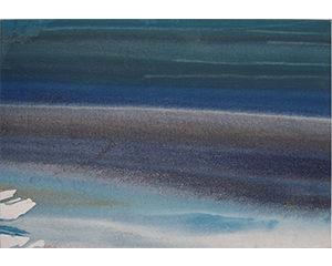 Greve 4, 2017. Acrylique sur toile, 38 cm x 55 cm.