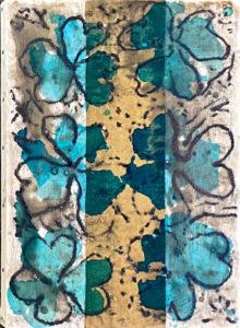 Monique TELLO, Sans titre, 2019. Collage, pastel sec, acrylique et encre, 33 x 24 cm.