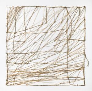 Entrelacs, 2014. Joncs capités, 50 x 50 cm.