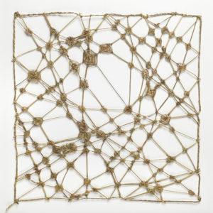 """""""Paysage à la figure absente"""", Jonc capité, 46 x 46 cm."""