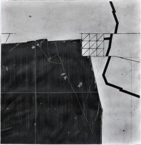 """""""AFL-D20/04"""", 2020. Encre sur papier, 57 x 57 cm."""