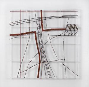 """APOMIRA"", 2020. Bois peint, 98 x 98 cm."