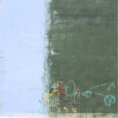 """Jean Pierre SCHNEIDER, """"A Caravage, le 16 nov 20"""", Acrylique, pourdre de marbre et pigments. 200 x 200 cm."""