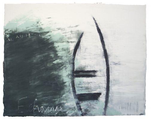 « Echouage du 6 XII 18 », 73,5 cm x 93 cm, 2018