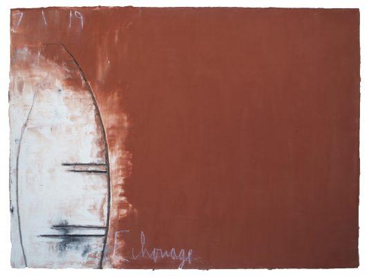 « Echouage le 7.1.19 », 97 cm x 130 cm, 2019