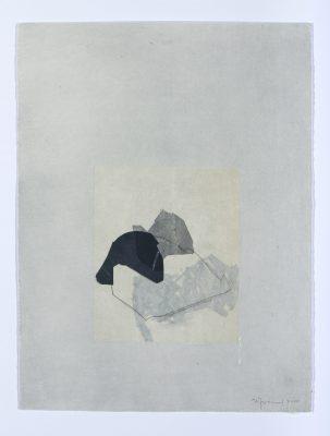 Forme et ligne I-3, Dessin, chine-collé et aquatinte, 39 x29 cm, 2019