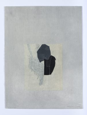 Forme et ligne I-4, Dessin, chine-collé et aquatinte, 39 x29 cm, 2019