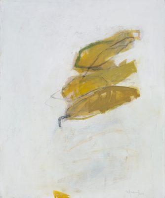 Feuille jaune, Acrylique sur toile, 72 x 60,5 cm, 2019