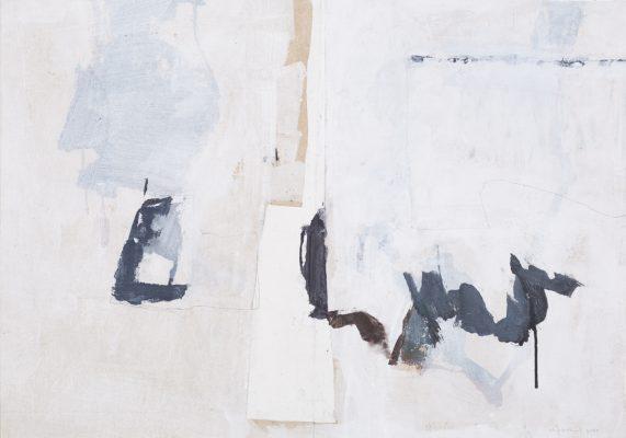 Scène jardin II, Acrylique,graphite et collage sur toile, 106,5x73 cm