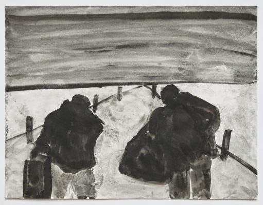 « Contre jour », 2021. Lavis, 50 x 65 cm