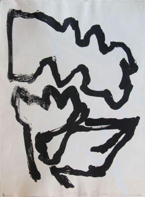 Série: Pour le Sonnet XIV de William Shakespeare, 1989. Gravure Eau forte, 75 x 56 cm.