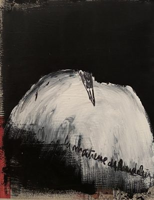 Jean Pierre SCHNEIDER, « La maîtresse de Baudelaire », 2014. Technique mixte, 50 x 40 cm.